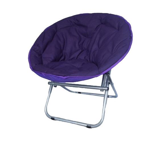 Comfort Padded Moon Chair   Downtown Purple