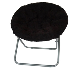Comfort Padded Moon Chair - Black