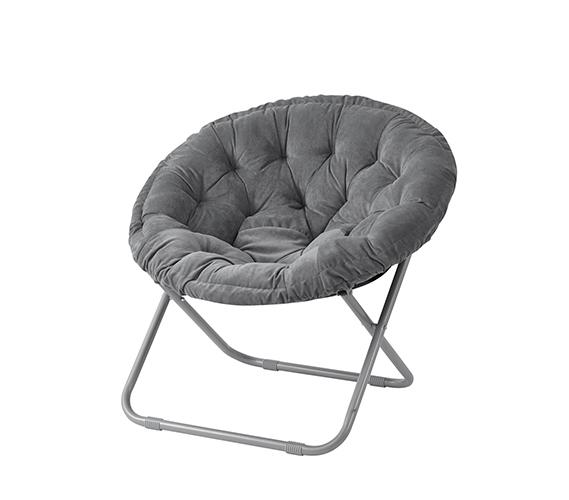 Moon Chair comfort padded moon chair - dark gray