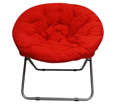 A Perfect Color To Match Your Dorm Decor - Comfort Padded Moon Chair - Red