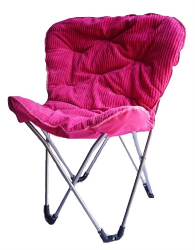 fort Padded Butterfly Chair Foldable Pink College Dorm Seating Universit