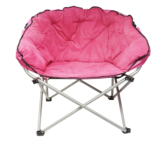 Oversized College Chair Pink Soft Dorm Seating