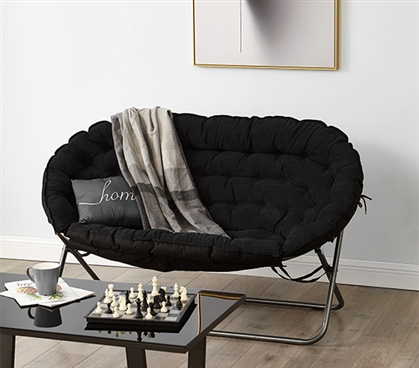 College Dorm Room Sofa -Papasan Dorm Sofa - Black