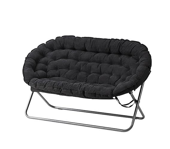 44f1e2593 Papasan Dorm Sofa - Black- Dorm Room Furniture Dorm Chair For Two