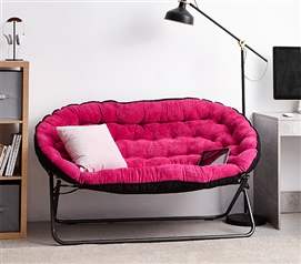 Dorm Seating - Papasan Dorm Sofa - Pink -College Futon