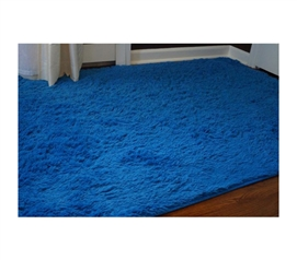 """The Softest"" College Plush Rug - Brilliant Blue Dorm Room Decor Idea"
