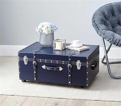 Great For Move-In Day! - The Sorority College Dorm Trunk - Midnight Navy - Dorm Footlocker