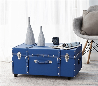 The Texture® Brand Dorm Trunk - Pacific Blue Dorm Essentials
