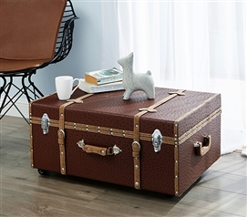 Trendy Design - The Texture® Dorm Room Trunk - Saddle Red - Carry Dorm Stuff In Style