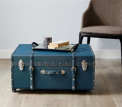 The Sorority College Dorm Trunk - Ocean Depths Teal
