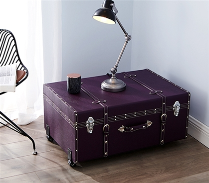 Dorm Storage - The Sorority College Dorm Trunk - Downtown Purple - College Accessories