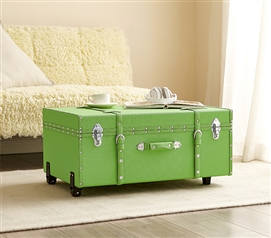 Dorm Room Storage - The Texture® Brand College Dorm Trunk  - Kiwi Green