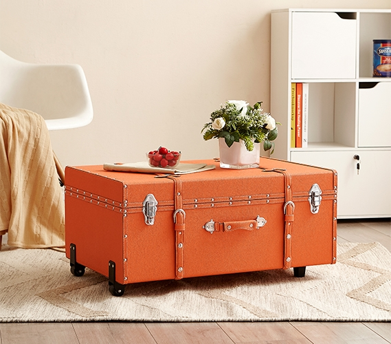 The Sorority College Dorm Trunk Orange Dorm Trunk For