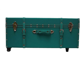 Useful Storage Item - The Sorority College Dorm Trunk - Teal - Best Dorm Stuff For Girls