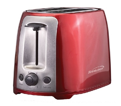 2 Slice Cool Touch Toaster - Red Dorm Essentials College Supplies Dorm Toasters