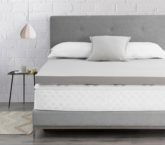 Spoon Me Coma Inducer 3 Memory Foam Twin Xl Bedding Topper Nighttime Gray
