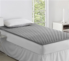 Twin XL College Bedding Essential to Make Dorm Bed More Comfortable Convoluted Foam Topper