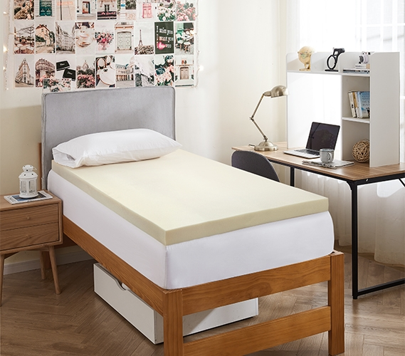 3 Memory Foam Mattress Topper Twin XL College dorm room Bedding