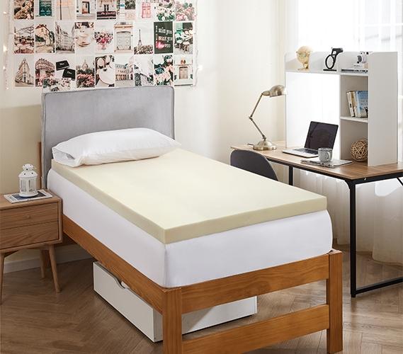 3 Memory Foam Mattress Topper Twin Xl College Dorm Room Bedding