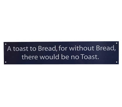 A Toast to Toast - Funny Tin Sign Dorm Room Decorations Dorm Room Decor