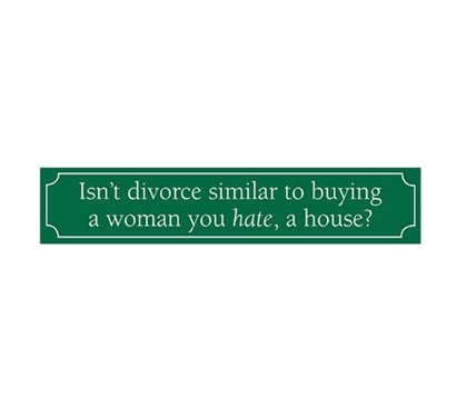 Add Funny Wall Decor - Divorce - Funny Tin Sign - Cool Dorm Room Items