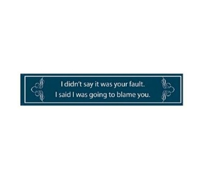 Best Dorm Decorations - Not Your Fault - Funny Tin Sign - Wall Decor For Dorms