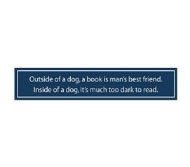 Cool Wall Decor Item - Dogs vs. Books - Funny Tin Sign - Bring Humor To College Life
