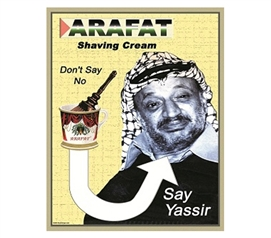 Funny College Guy Accessory - Arafat Shaving Cream Says Yassir - Tin Sign
