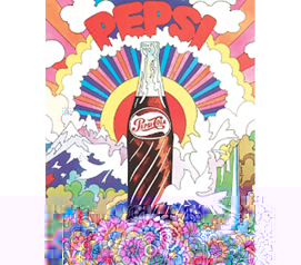 Cheap Multicolor Pepsi Art - College Tin Sign Colorful Dorm Decoration