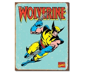 Tin Sign Dorm Room Decor marvel comics wolverine mutant super hero icon illustration on vintage tin sign