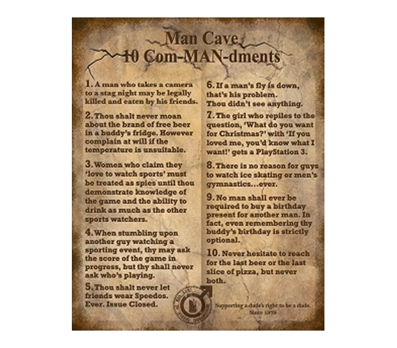 The 10 Commandments Funny College Tin Sign Dorm