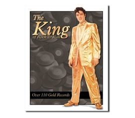 Tin Sign Dorm Room Decor King of Rock n Roll decorative tin sign wall art for dorms and apartments