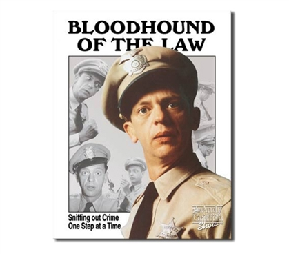Tin Sign Dorm Room Decor funny Bloodhound of the Law photograph tin sign dorm and apartment wall decoration
