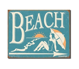 Tin Sign Dorm Room Decor essential decorative dorm room tin sign with beach and surf style