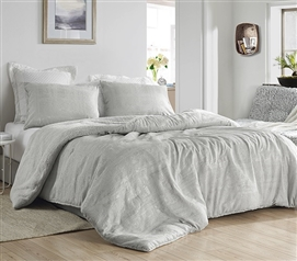 Beautiful Textured Twin Extra Long Comforter Glam Dorm Decor Oversized College Bedding