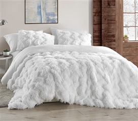Chevron Birds of a Feather - Coma Inducer Twin XL Comforter - White