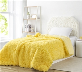 Birds of a Feather - Coma Inducer Twin XL Comforter - Sunshine Yellow