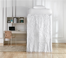 Coma Inducer Bed Skirt Panel with Ties - Are You Kidding? - White