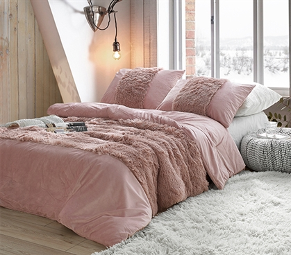 Are You Kidding? - Coma Inducer Twin XL Comforter - Blush