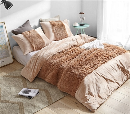 Are You Kidding? - Coma Inducer Twin XL Comforter - Maple Sugar