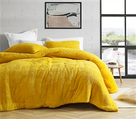 Coma Inducer Oversized Twin Comforter - Teddy Bear - Ochre