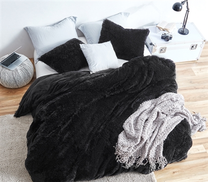Coma Inducer Twin XL Duvet Cover - Are You Kidding? - Black