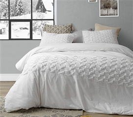 Snowy Dais Twin XL Duvet Cover