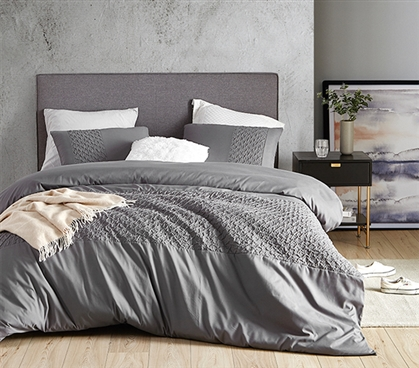 Cirrus Gray Twin XL Duvet Cover