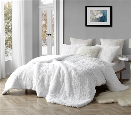 Coma Inducer Twin XL Comforter - Are You Kidding? - White