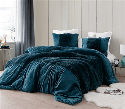 Coma Inducer Twin XL Comforter - Are You Kidding? - Nightfall Navy