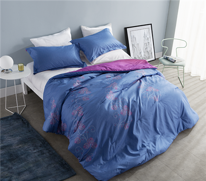 Designer Flowered Soft Comforter - Twin XL Dorm Bedding
