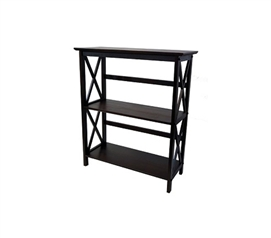 Montego Low Bookshelf - Espresso College Furniture