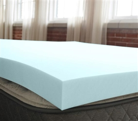 "2"" Serene Foam Topper Twin XL Mattress Topper Dorm Essentials"