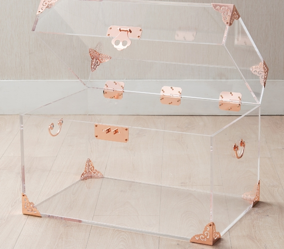 Ciao Bella Acrylic Trunk Rose Gold